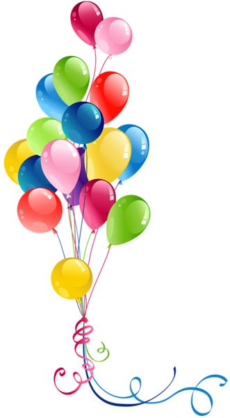 Happy birthday balloons clipart clipartfest