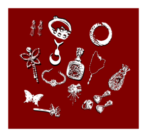 Jewelry clip art high quality