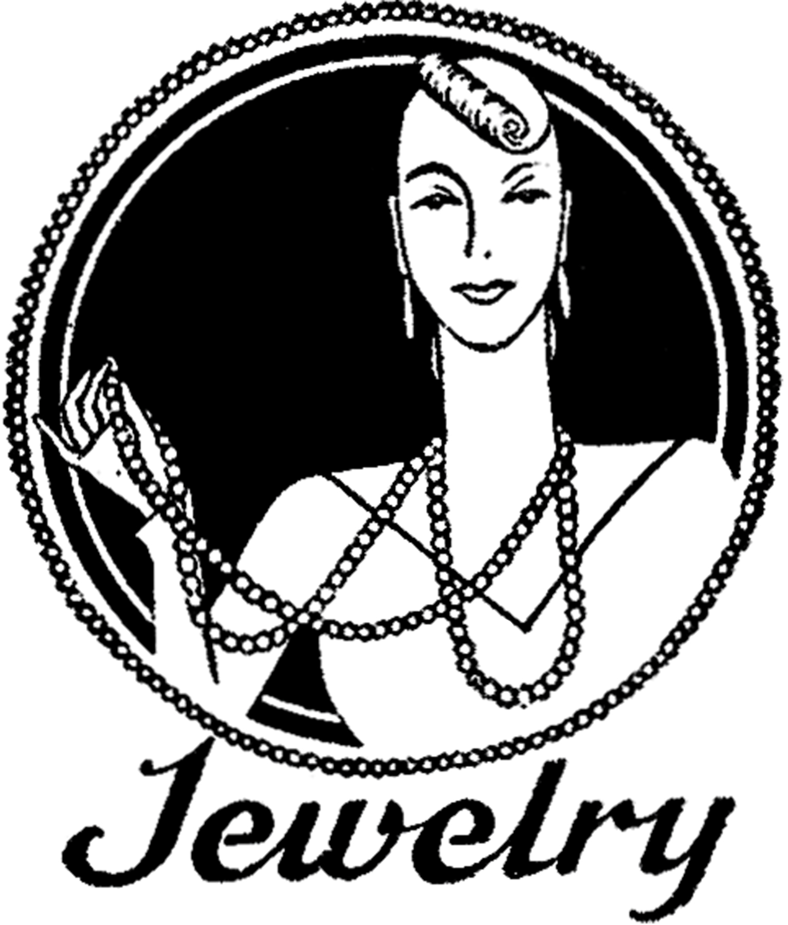 Jewelry clipart black and white clipartfest