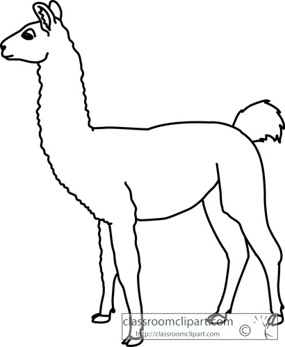 Line Drawing Llama : Free llama clipart pictures clipartix