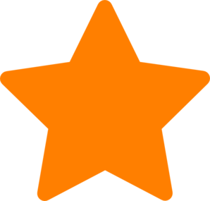 Orange starburst clipart
