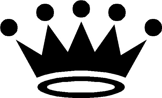 Pageant crown black and white clipart kid