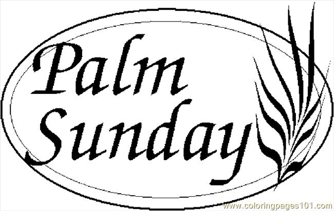 Palm sunday 2 coloring page free holidays pages clip art - Clipartix