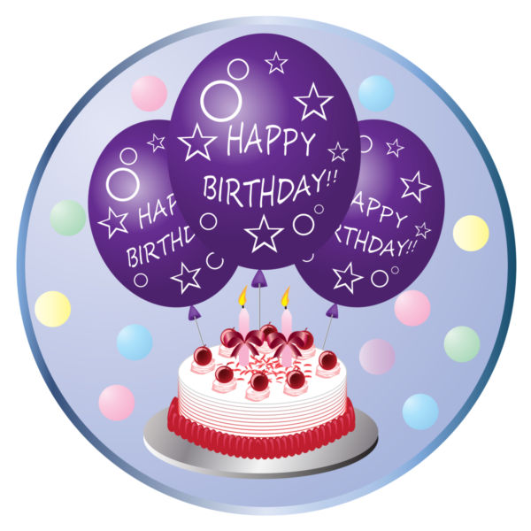 Purple birthday balloons clipart