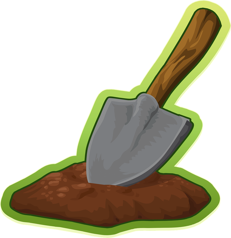 Shovel free to use clipart 2