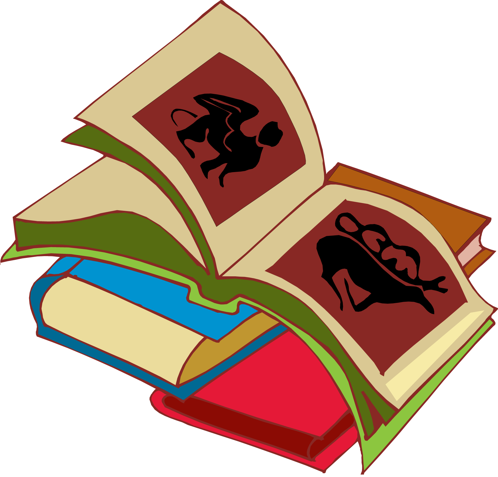 Stack of books clipart clipart