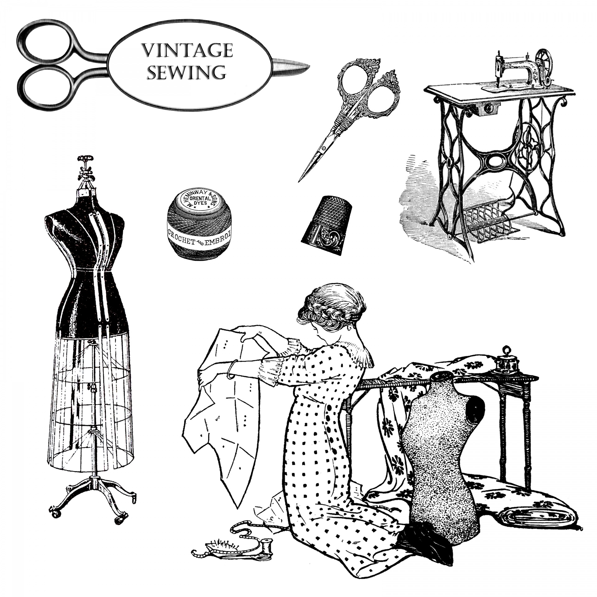 Vintage sewing clipart free stock photo public domain pictures