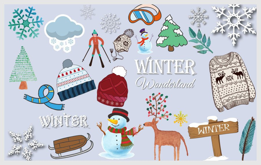 Winter clipart discovery center store