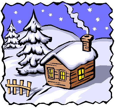 Winter scenes clipart kid
