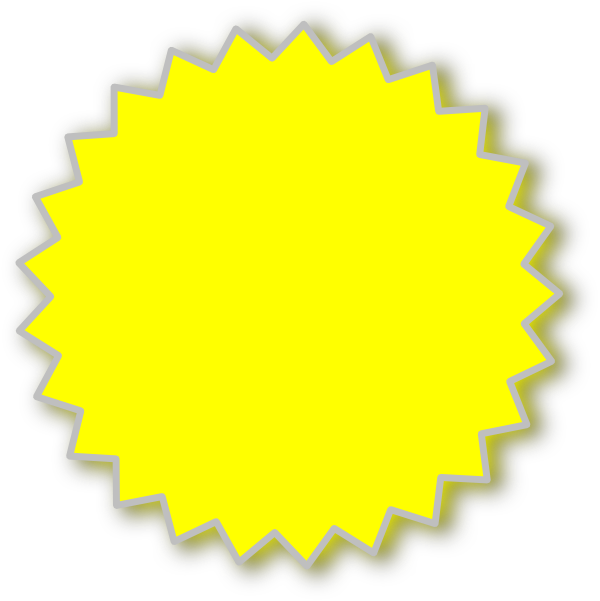 Yellow starburst clipart cliparts and others art inspiration