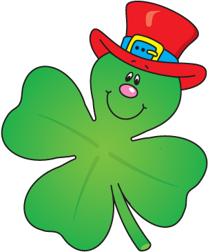4 leaf clover clip art clovers and leaves on