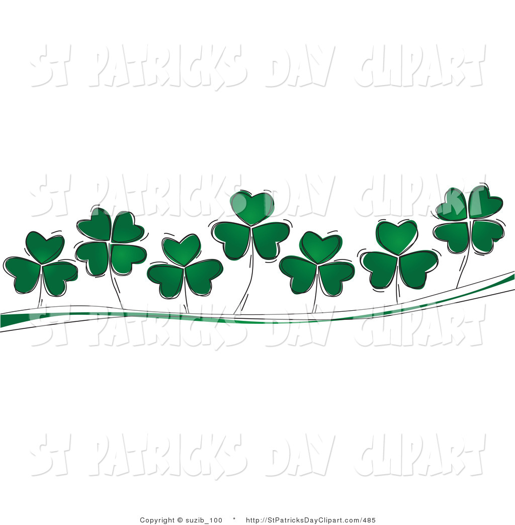 4 leaf clover clip art of a three and four leaf clovers growing on green