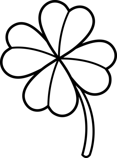 4 leaf clover clipart black and white clipartfest