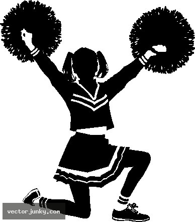 Cheerleader clip art on cheerleading stick figures and cheer 3