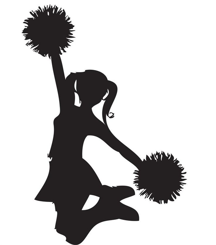 Cheerleading cheer megaphone clipart black and white free