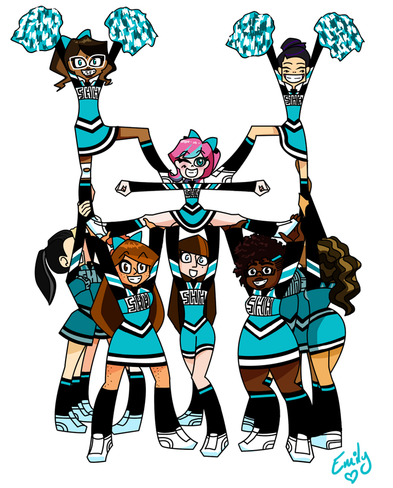 Cheerleading clipart stunts free images 6