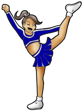 Cheerleading clipart stunts free images 7
