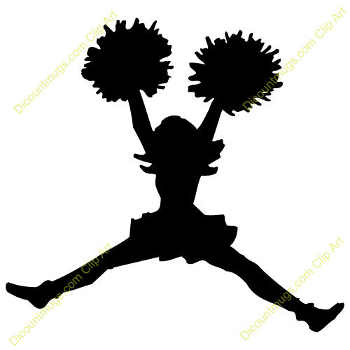 Cheerleading football cheerleader clipart