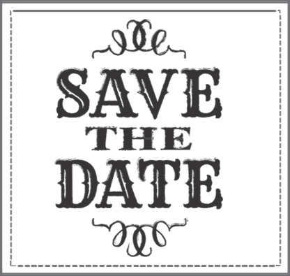 Christmas save the date clipart