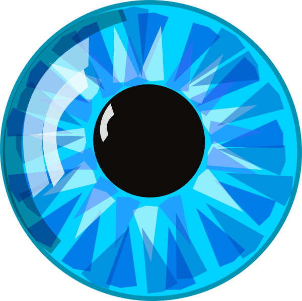 Eyeball blue green eyes clipart