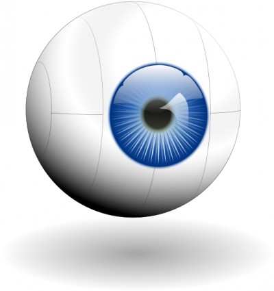 Eyeball blue vector eye clip art high quality image