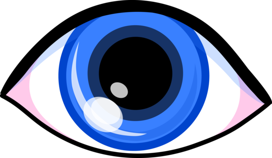 Eyeball eye vision clipart