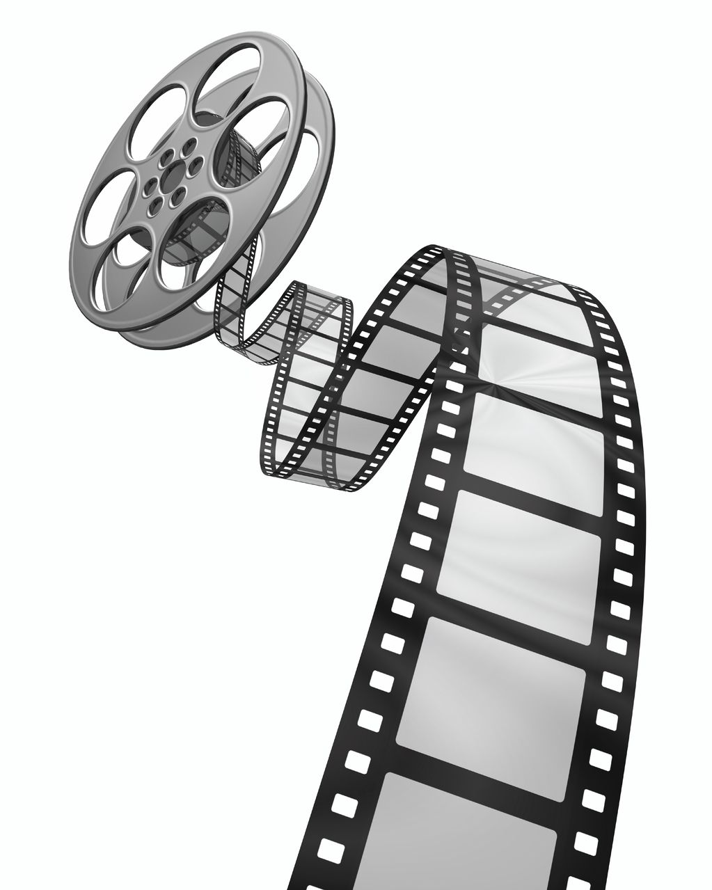 Film strip film reels clipart clipartfest