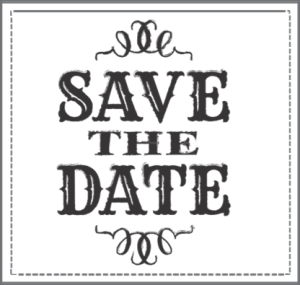 Save the date clipart black and white clipartfest