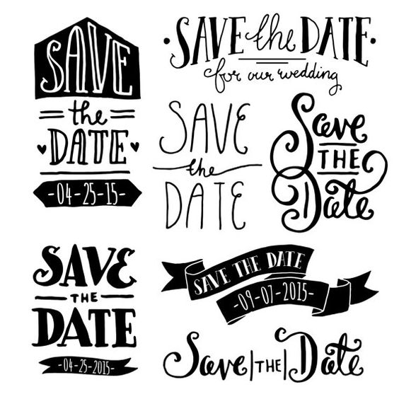 Save the date overlays the clip art