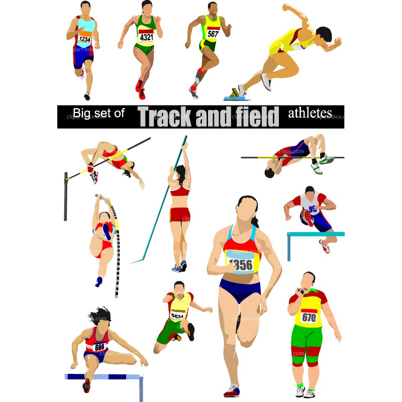 Track and field clipart free vector clipartfest