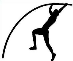 Track and field free track pole vault clipart