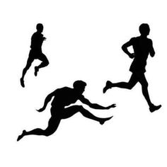Track and field silhouette clipart clipartfest