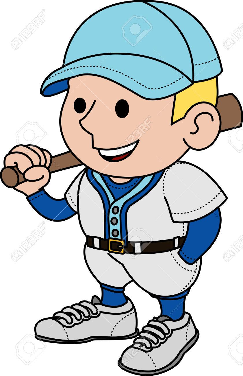 Baseball player baseball uniform clipart