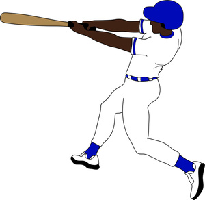 Baseball player clipart free images 6