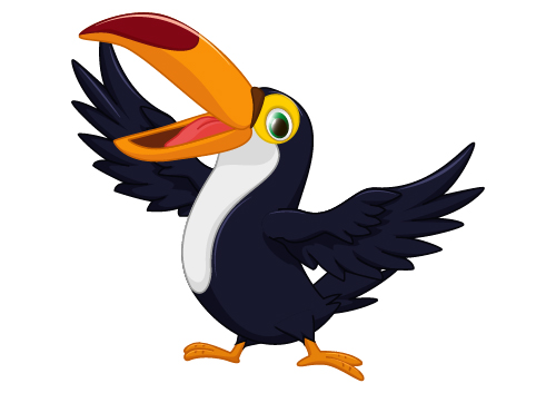 Cartoon toucan bird vector vector animal free
