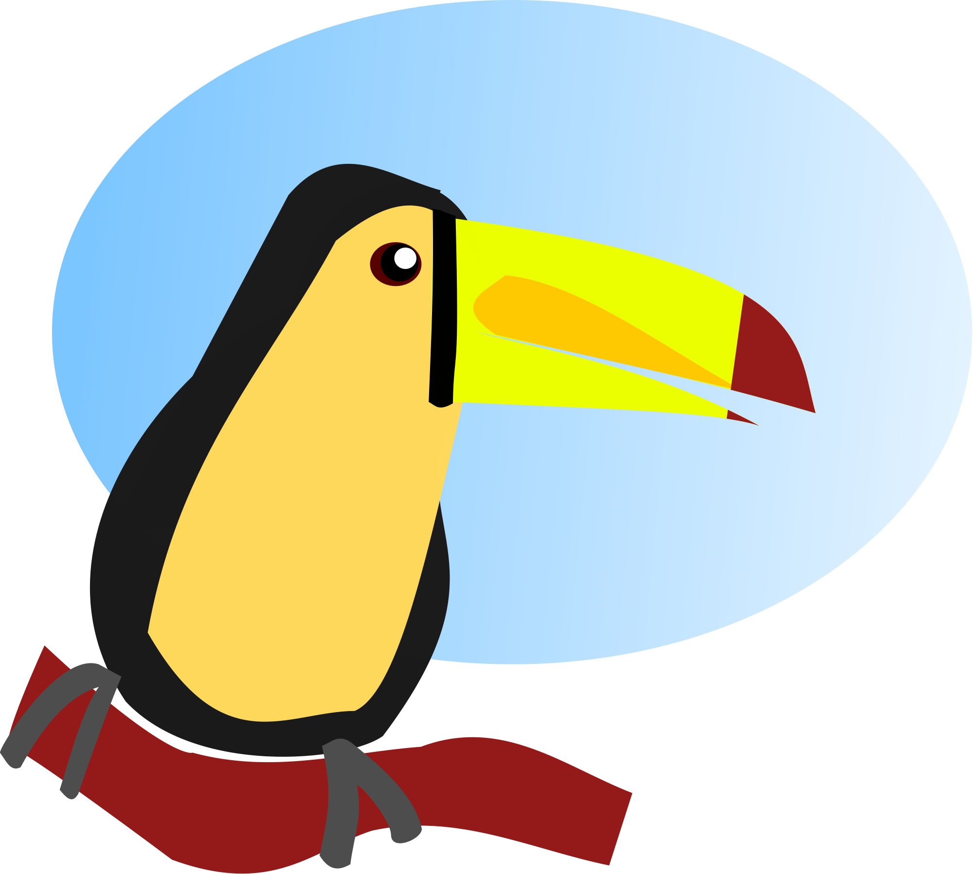 Cartoon toucan file toucan cartoon svg wikimediamons