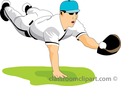 Clipart of baseball player clipartfest