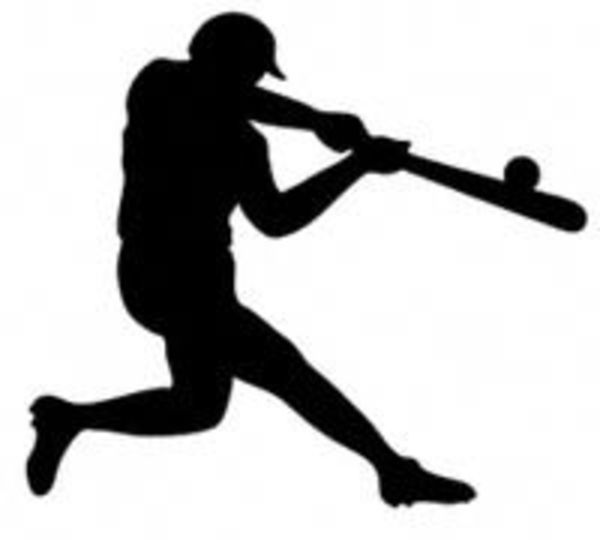Free clipart baseball player silhouette