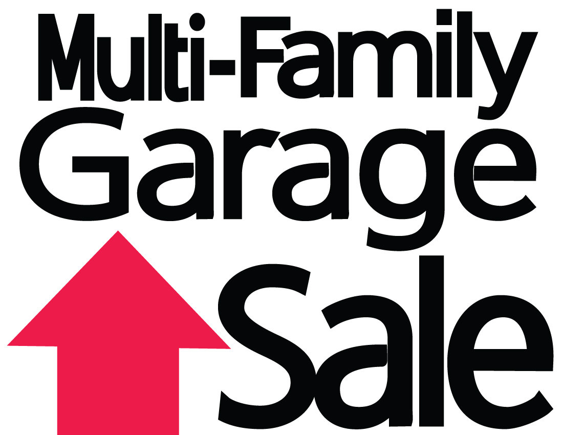 Garage sale sale multi family yard clipart