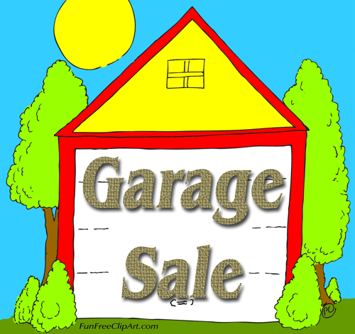Garage sale yard sale garage clip art free