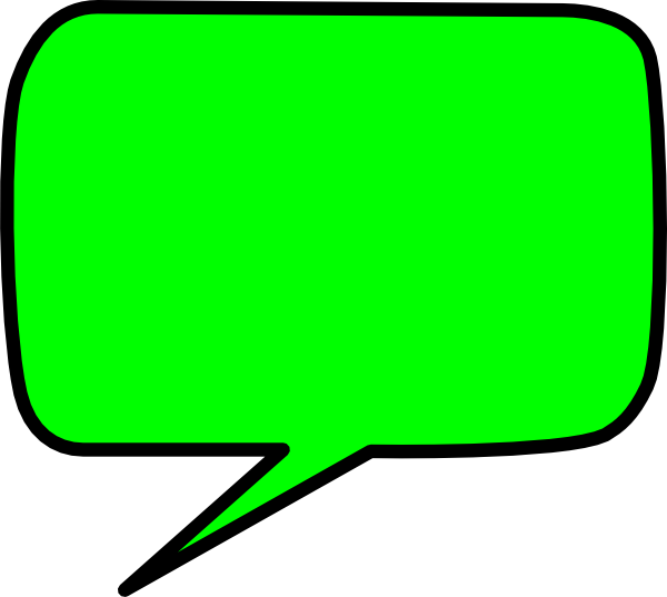 Green speech bubble clip art at vector clip art