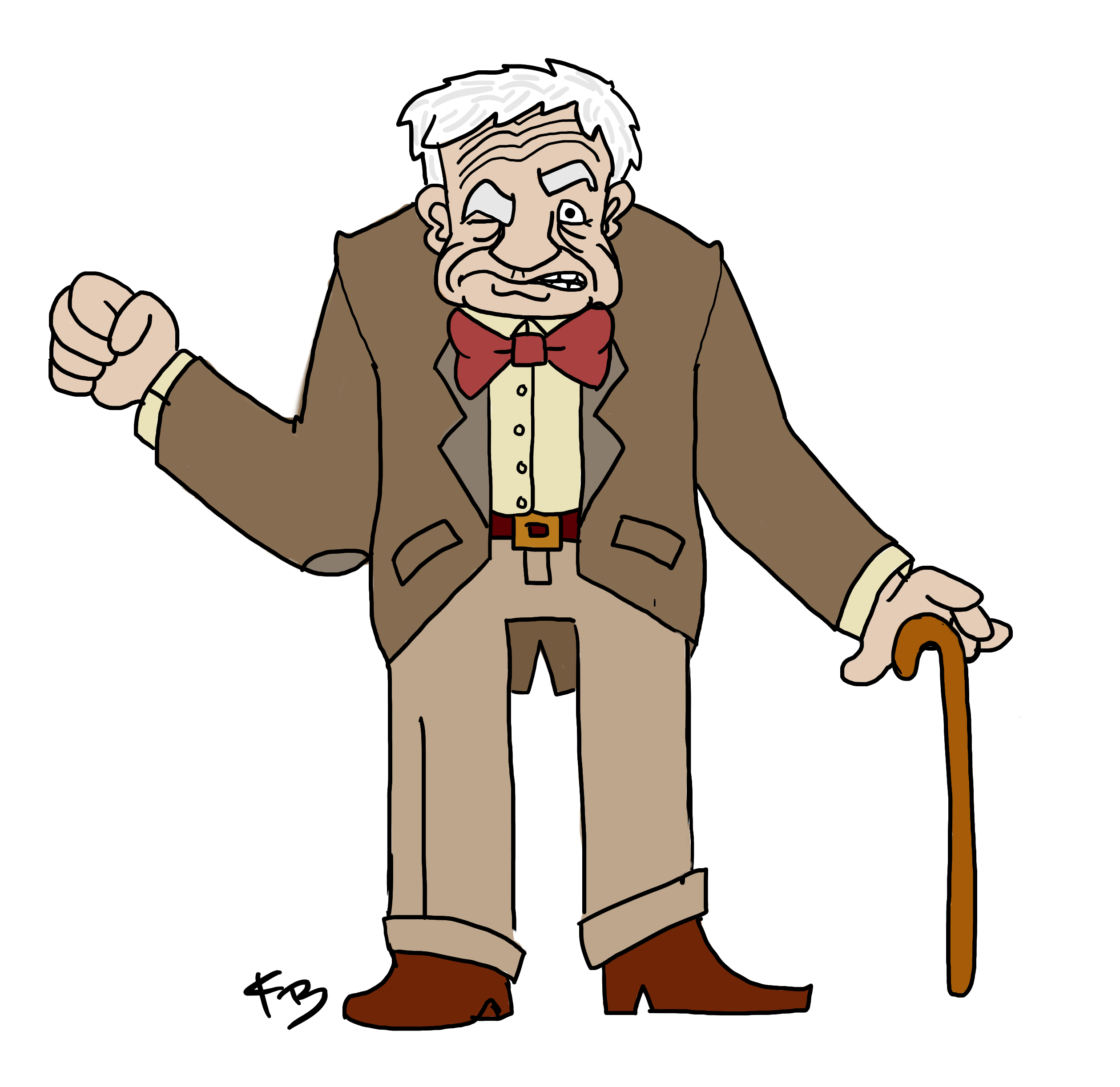 Grumpy old man clipart clipartfest