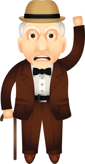 Grumpy old man on telephone clipart clipartfest