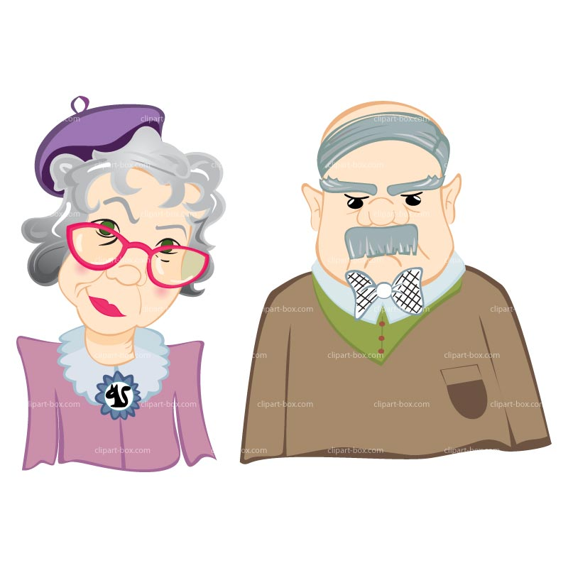 Old man old people clipart
