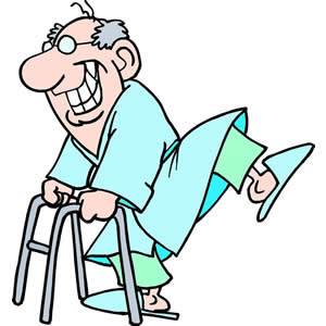 Old man with walker clipart clipartfest
