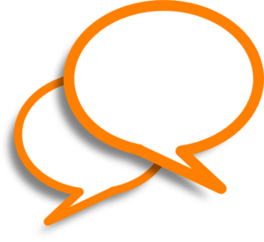 Orange speech bubbles clip art high quality