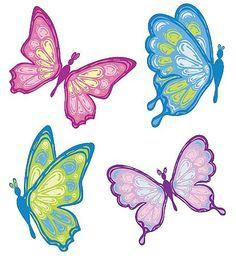Pastel butterflies clipart clipartfox