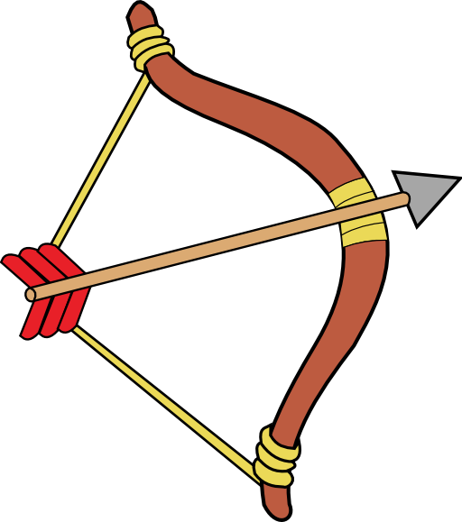 Archery hunting clipart