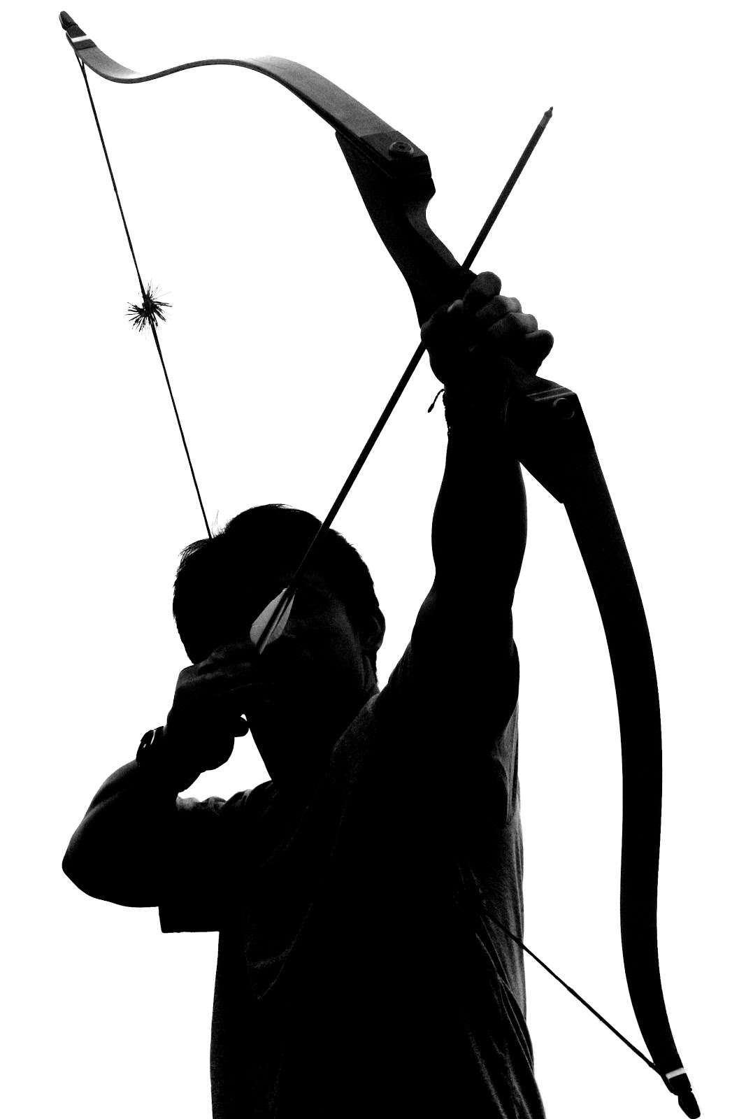 Bow and arrow archery clipart