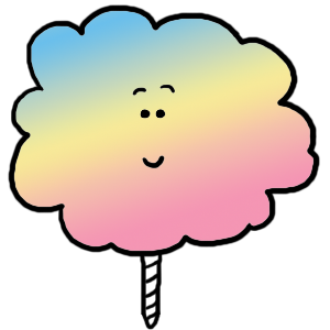 Carnival cotton candy clipart 3